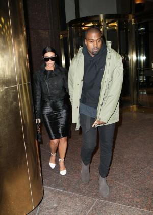 Kim Kardashian in Black Dress -43
