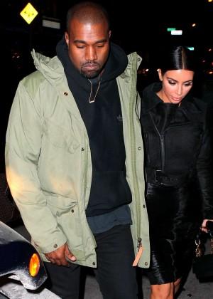 Kim Kardashian in Black Dress -44