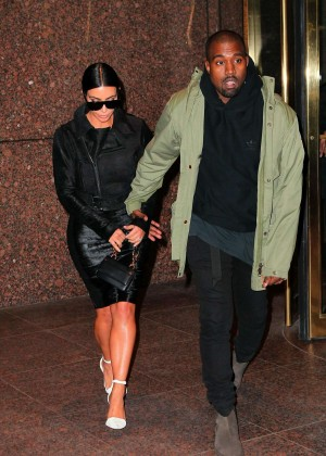 Kim Kardashian in Black Dress -45
