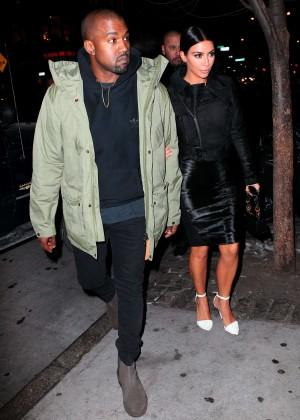 Kim Kardashian in Black Dress -47