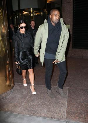 Kim Kardashian in Black Dress -49