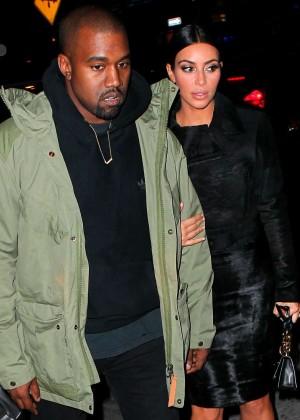 Kim Kardashian in Black Dress -51