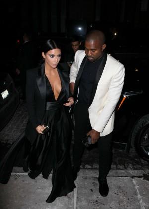 Kim Kardashian in Black Dress -54