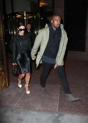 Kim Kardashian in Black Dress -56