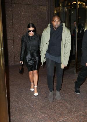 Kim Kardashian in Black Dress -57