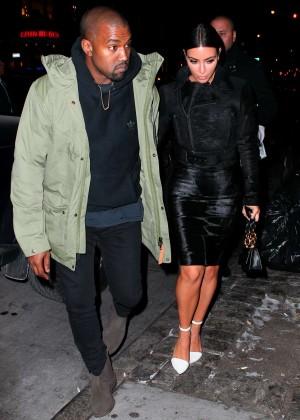 Kim Kardashian in Black Dress -58