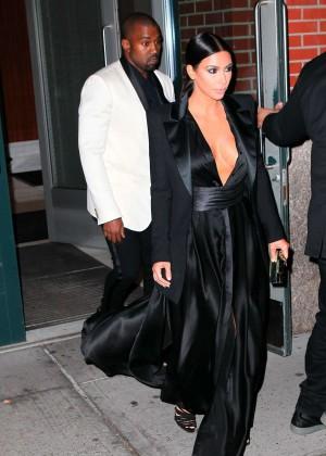 Kim Kardashian in Black Dress -59