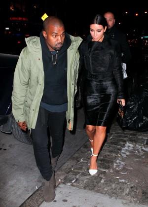Kim Kardashian in Black Dress -61