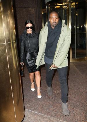 Kim Kardashian in Black Dress -62