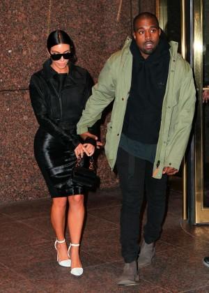Kim Kardashian in Black Dress -63