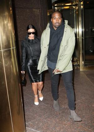 Kim Kardashian in Black Dress -64