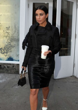Kim Kardashian in Black Dress -69