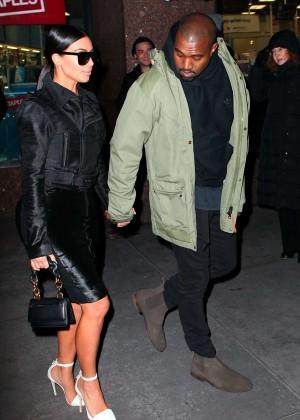 Kim Kardashian in Black Dress -71