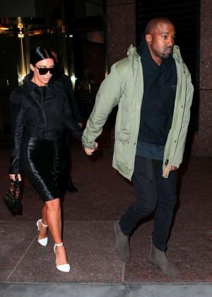 Kim Kardashian in Black Dress -73
