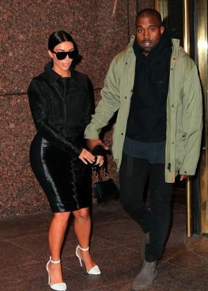 Kim Kardashian in Black Dress -74