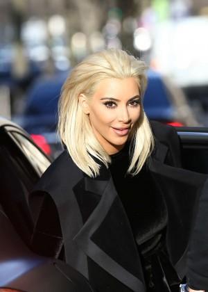 Kim Kardashian Debuts Blonde Hair -19