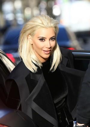 Kim Kardashian Debuts Blonde Hair -20