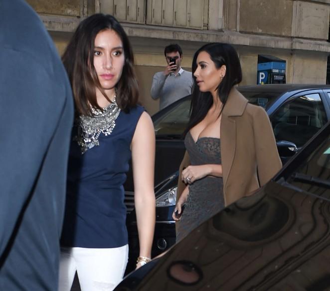 Kim Kardashian in Tight Dress -02