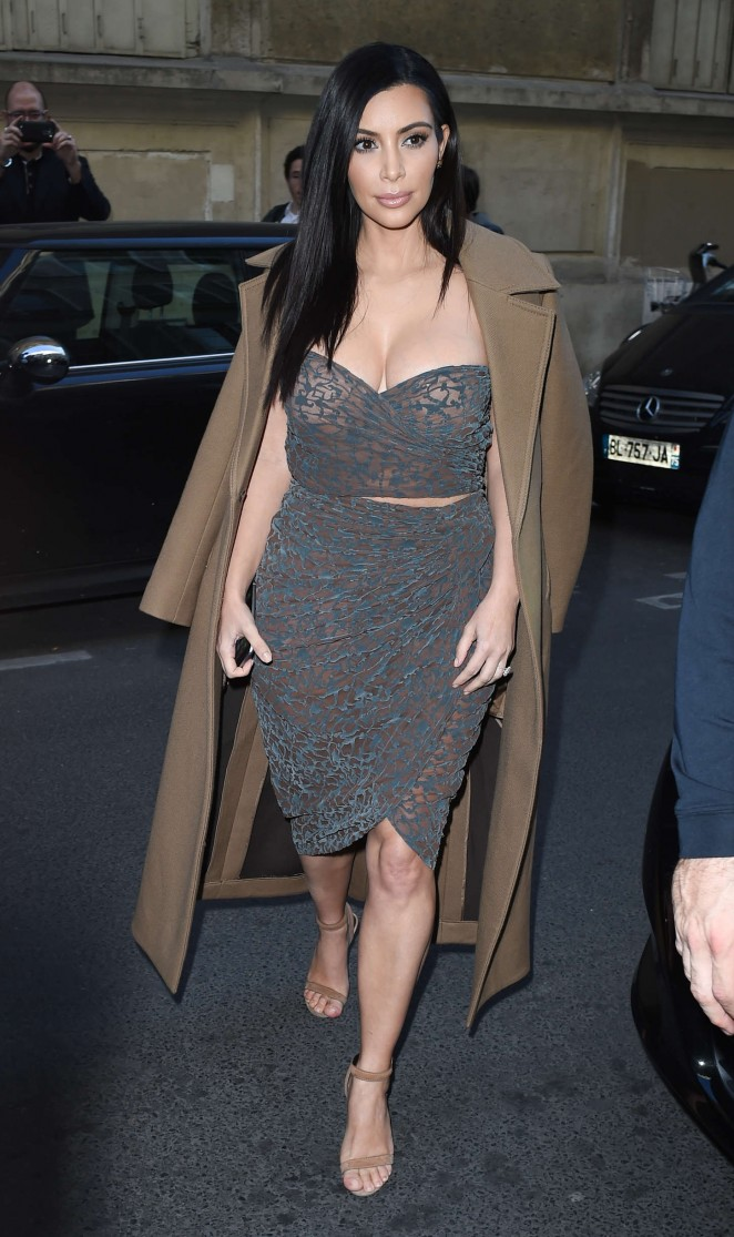 Kim Kardashian in Tight Dress -09