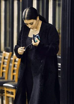 Kim Kardashian - Out for dinner in Calabasas
