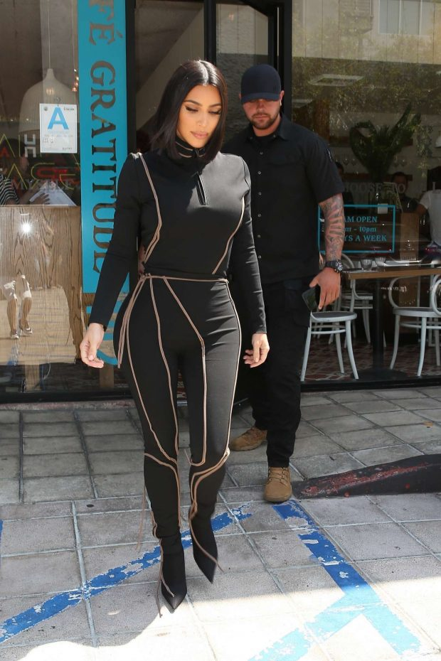 Kim Kardashian: Out for lunch at Cafe Gratitude-16