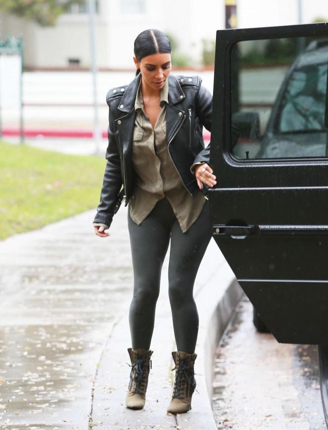 Kim Kardashian Out in Brentwood