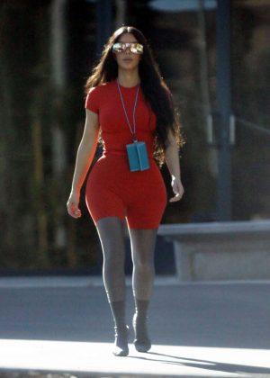 Kim Kardashian out in Calabasas