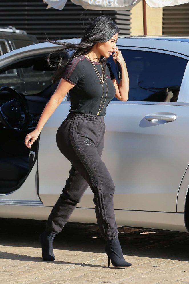 Kim Kardashian Out in Malibu