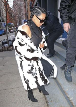 Kim Kardashian out in NYC -06