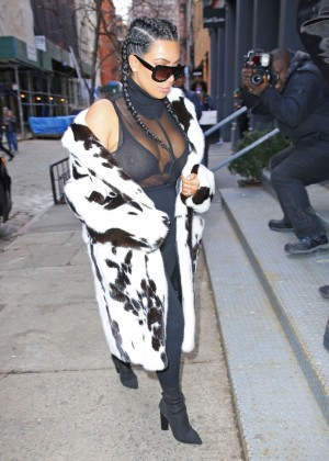 Kim Kardashian out in NYC -07