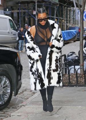 Kim Kardashian out in NYC -11