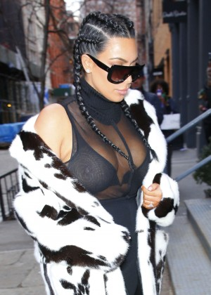 Kim Kardashian out in NYC
