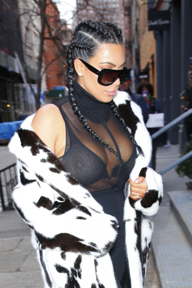 Kim Kardashian out in NYC