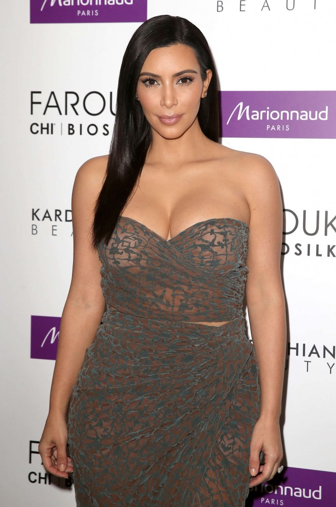 Kim Kardashian - Promoting 'Kardashian Beauty Hair' in Paris
