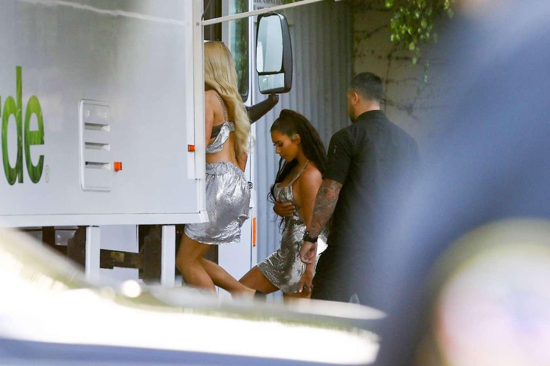 Kim Kardashian 2019 : Kim Kardashian: Seen at Paris Hiltons video shoot in West Hollywood-03