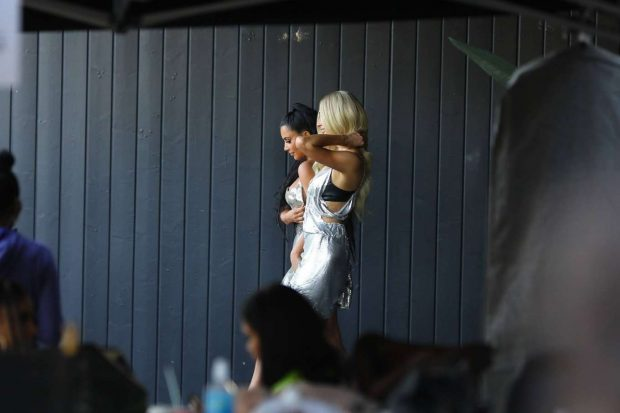 Kim Kardashian: Seen at Paris Hiltons video shoot in West Hollywood-08