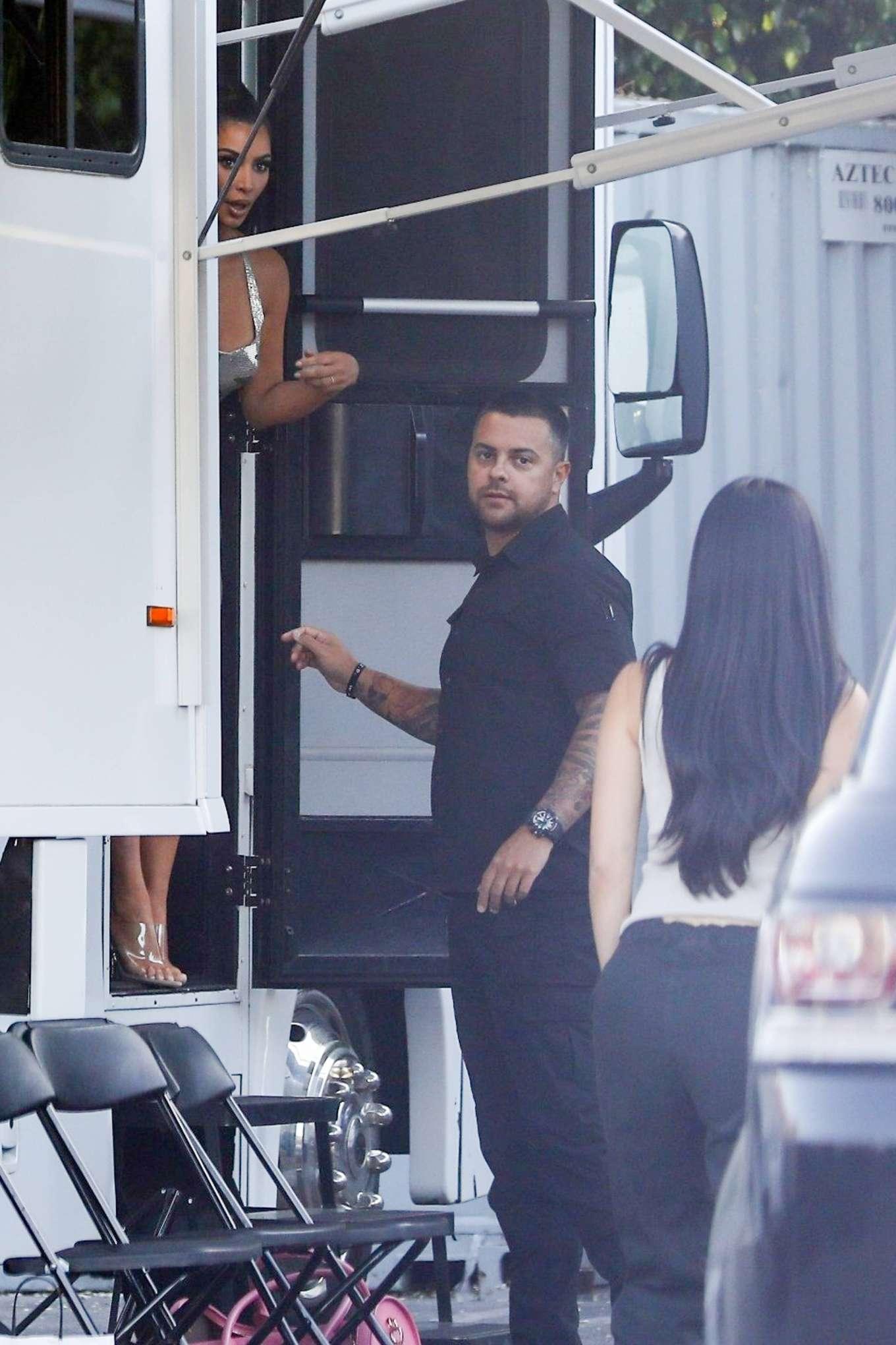 Kim Kardashian 2019 : Kim Kardashian: Seen at Paris Hiltons video shoot in West Hollywood-13