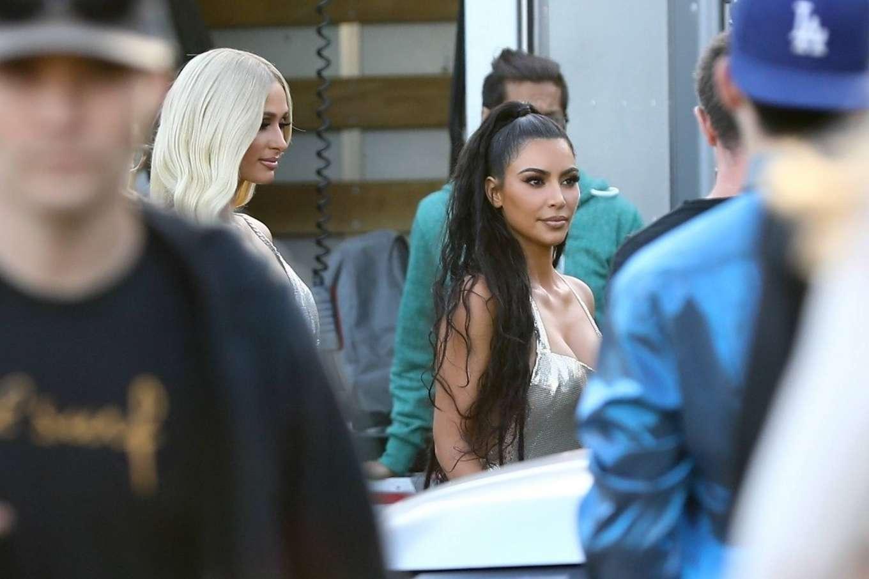 Kim Kardashian 2019 : Kim Kardashian: Seen at Paris Hiltons video shoot in West Hollywood-18