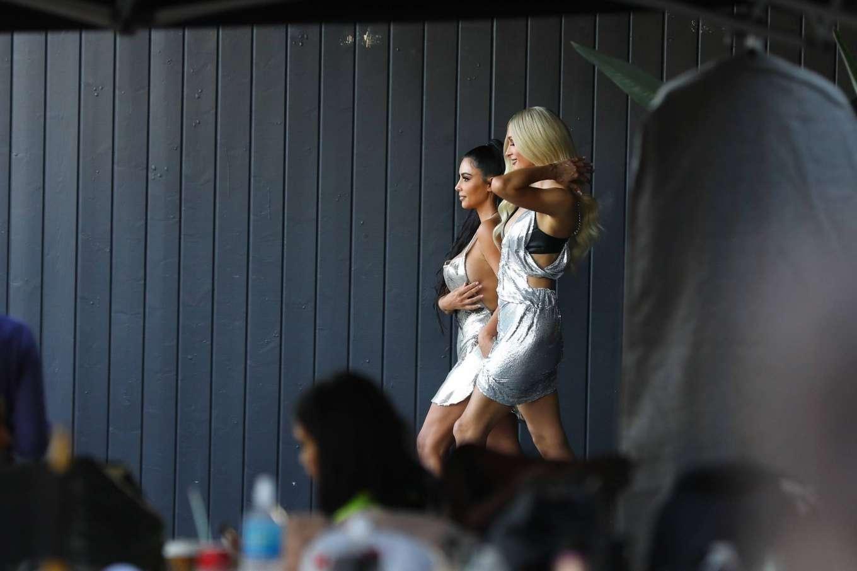 Kim Kardashian 2019 : Kim Kardashian: Seen at Paris Hiltons video shoot in West Hollywood-19