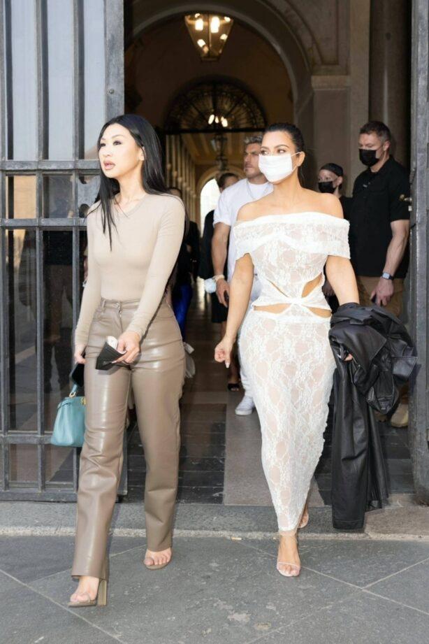 Kim Kardashian - seen at the Vatican in Rome