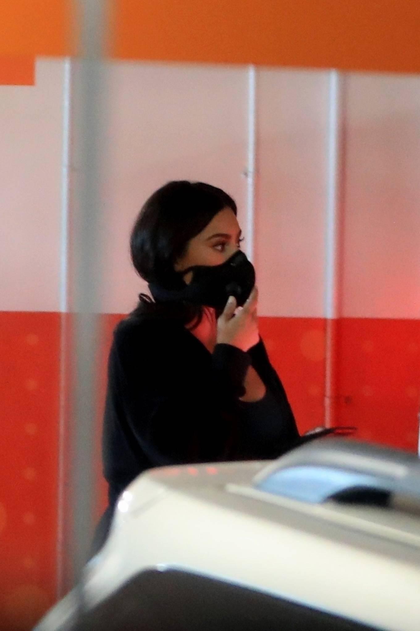 Kim Kardashian 2020 : Kim Kardashian – Seen leaving Cedars-Sinai hospital in Los Angeles-01