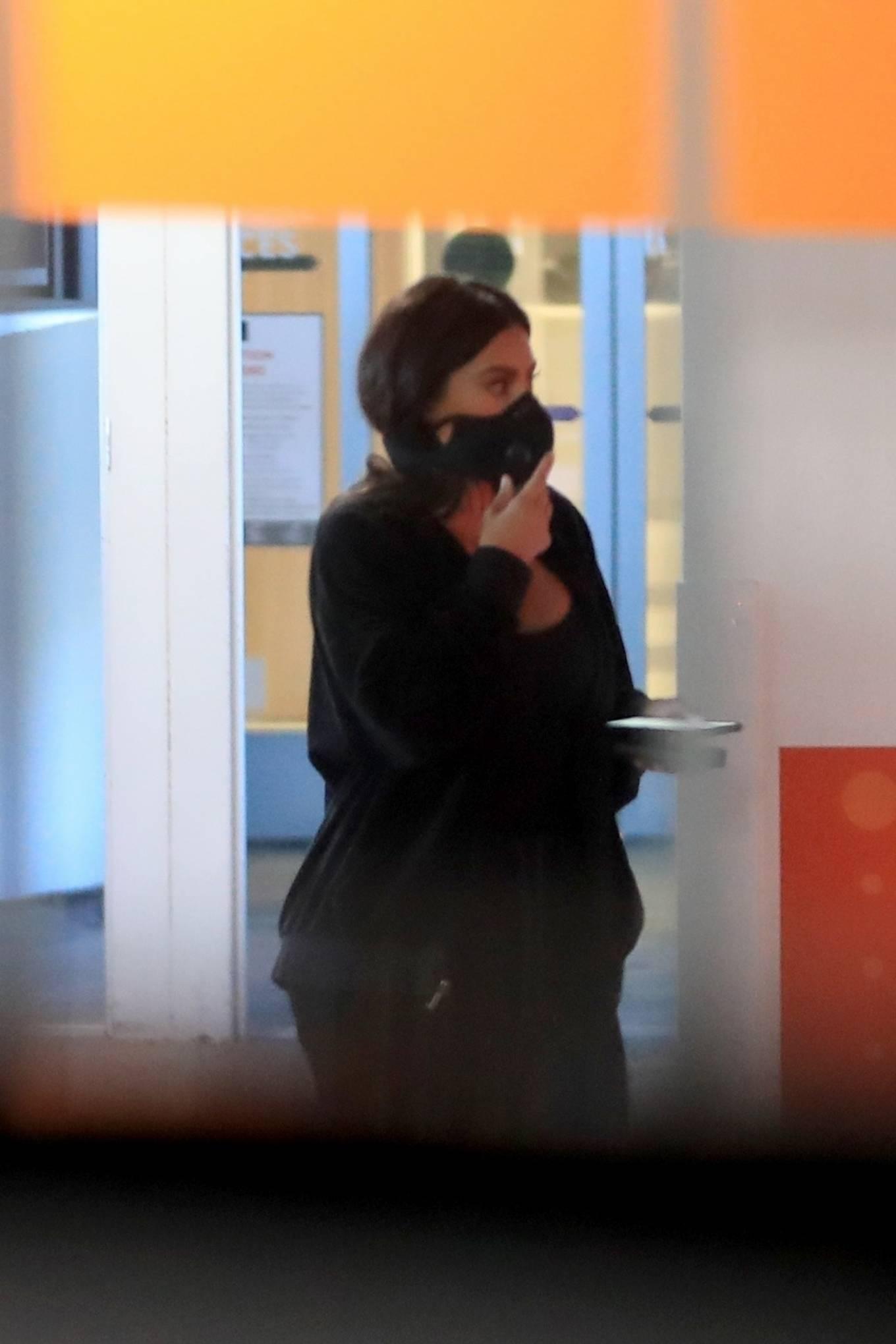 Kim Kardashian 2020 : Kim Kardashian – Seen leaving Cedars-Sinai hospital in Los Angeles-03