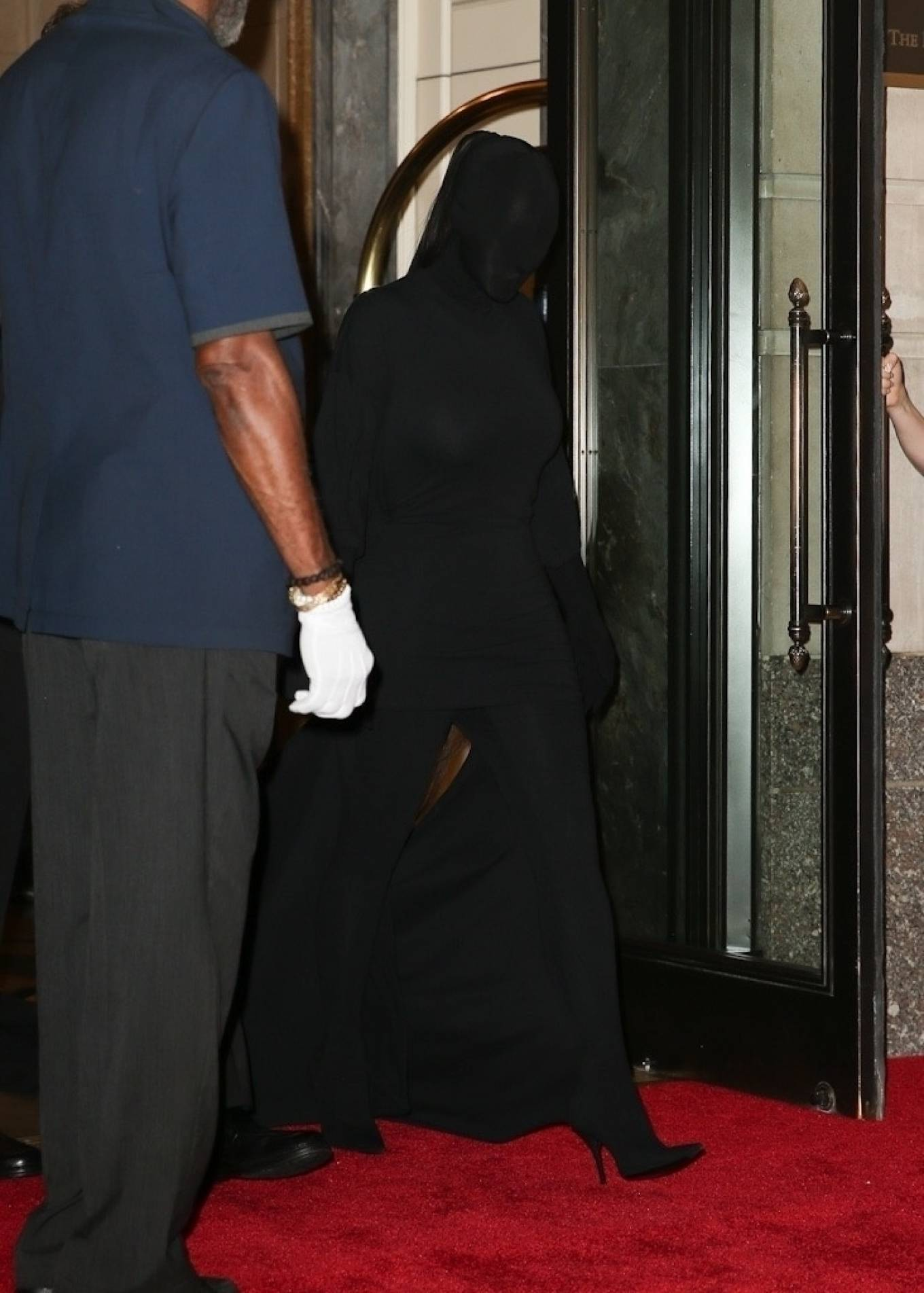 Kim Kardashian 2021 : Kim Kardashian – Seen while exits The Ritz-Carlton hotel ahead of the Met Gala in New York-10