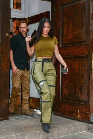 Kim Kardashian - Seen with Lala Anthony in NY