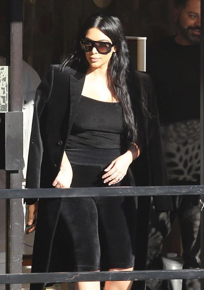 Kim Kardashian – Shopping for baby Saint at Bel Bambini in Beverly Hills