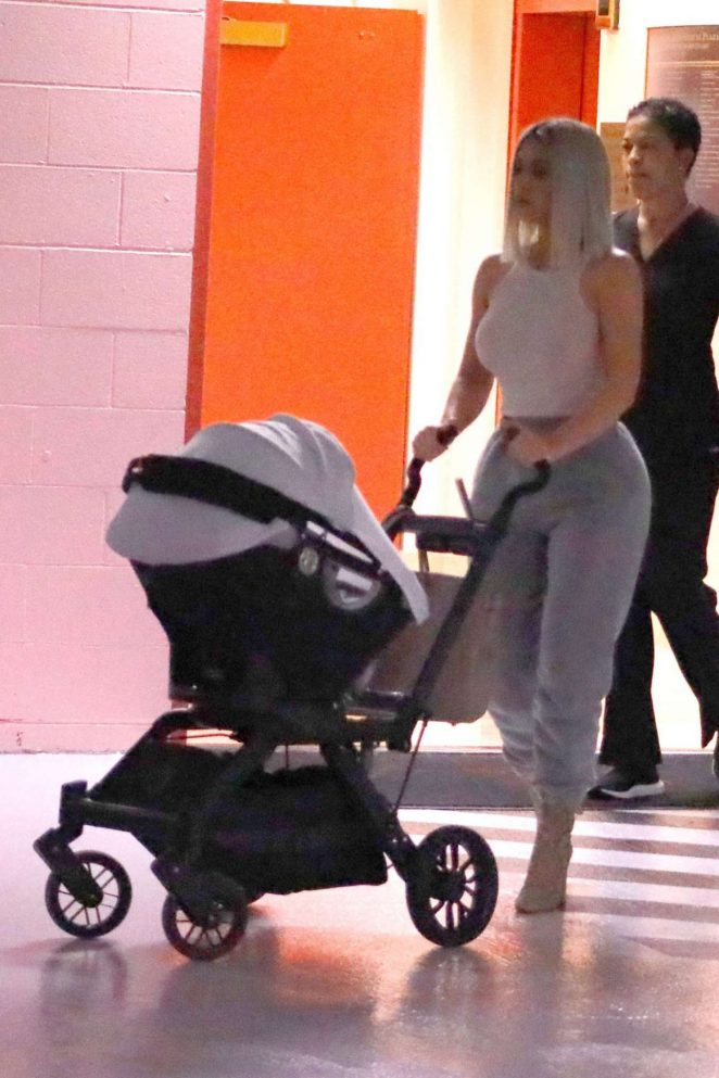 Kim Kardashian – Takes Baby Chicago at the doctors in New York