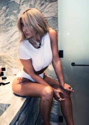 Kim Kardashian - Violet Grey Photoshoot 2017
