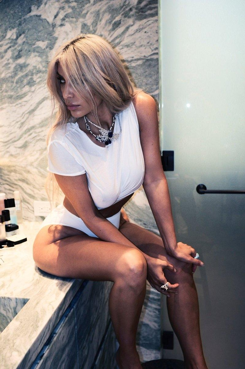 Kim Kardashian Violet Grey Photoshoot 2017