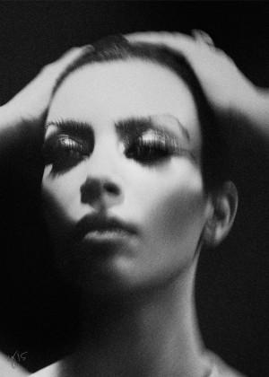 Kim Kardashian - Violet Grey Photoshoot (August 2015)