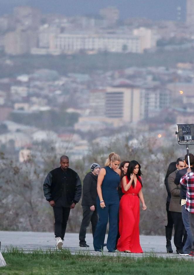 Kim Kardashian: Visiting the Armenian Genocide Memorial -09